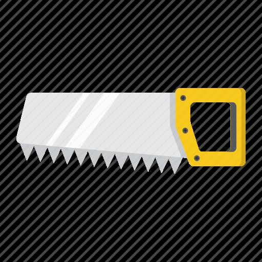 build, carpentry, hand, handsaw, repair, saw, tool icon