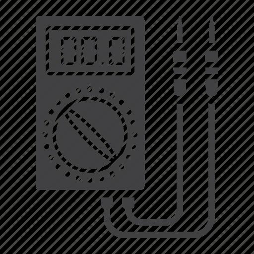 digital, electric, multimeter, repair, tester, voltage, voltmeter icon