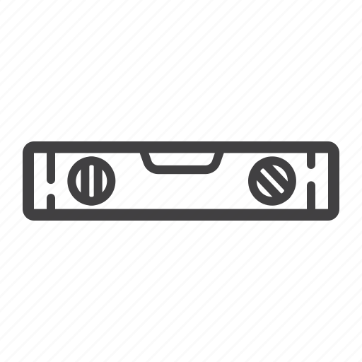bubble, build, construction, level, repair, ruler, tool icon