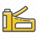 build, construction, gun, repair, staple, stapler, tool icon