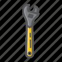 adjustable, build, plumber, repair, spanner, tool, wrench