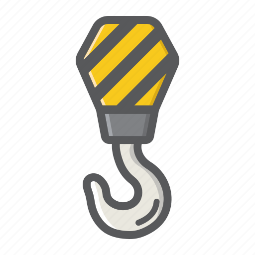 build, construction, crane, hook, lift, repair, rope icon