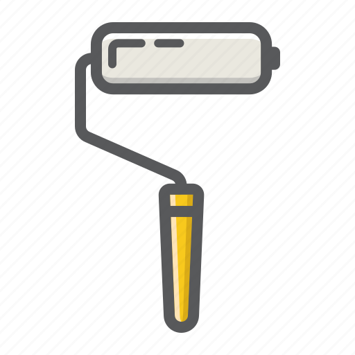 build, color, paint, painting, repair, roller, tool icon