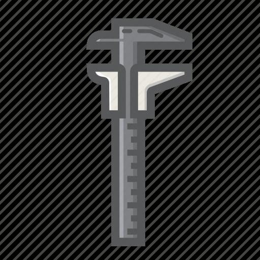 build, caliper, dial, rule, scale, slide, vernier icon