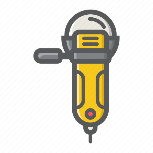 angle, build, circle, electric, grinder, repair, tool icon