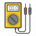 digital, electric, multimeter, repair, tester, voltage, voltmeter icon
