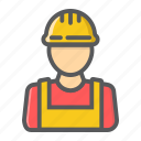 builder, constructor, engineer, helmet, person, repair, worker icon
