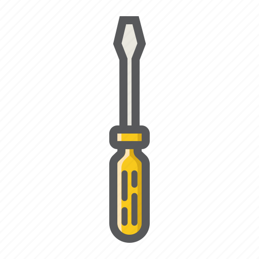 build, construction, repair, screwdriver, service, support, tool icon