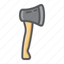 ax, axe, build, handle, repair, tool, wood icon
