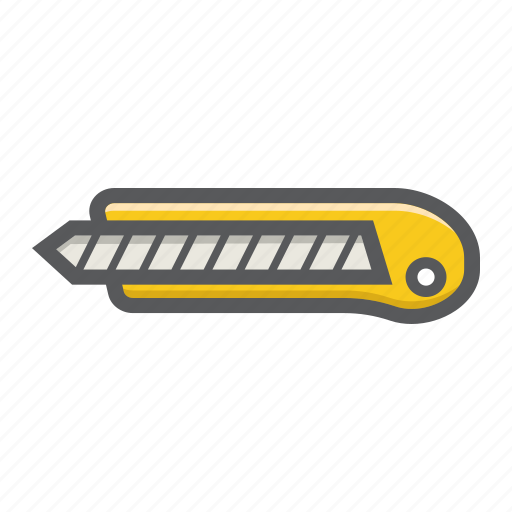 boxcutter, build, knife, paper, repair, stationery, tool icon