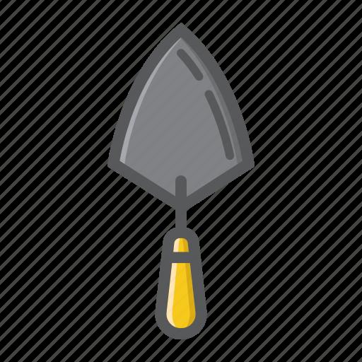bricklayer, build, builder, construction, repair, tool, trowel icon