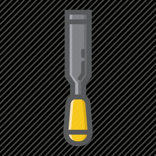 build, carpentry, chisel, construction, craft, repair, tool icon