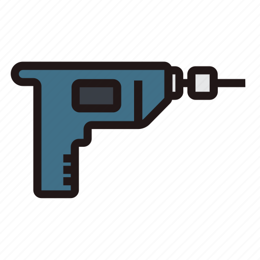 Builder, construction, drill, machine, repair, tools, work icon - Download on Iconfinder