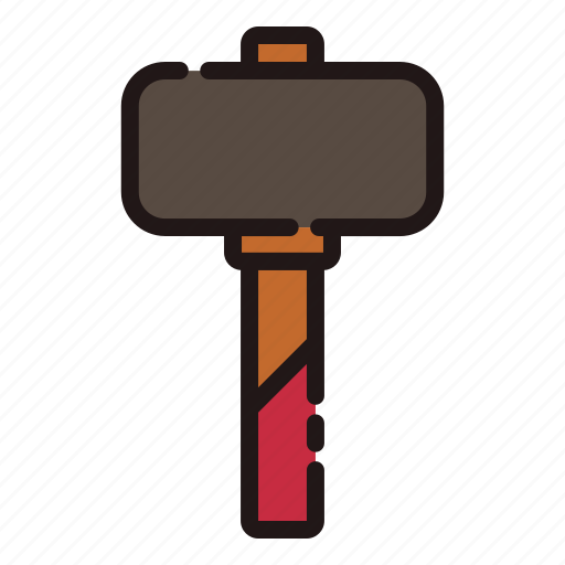 Builder, building, hammer, repair, rubber hammer, tools, work icon - Download on Iconfinder