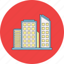 building, business, corporation, estate, hotel, office icon