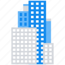 apartment, building, company, office