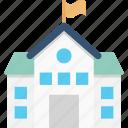 building, college building, school, institute, real estate icon