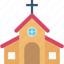 chapel, christian building, church, religious building, religious place icon