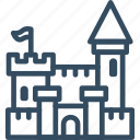 fortress, castle, tower, citadel, safeholf, stronghold, fortification icon