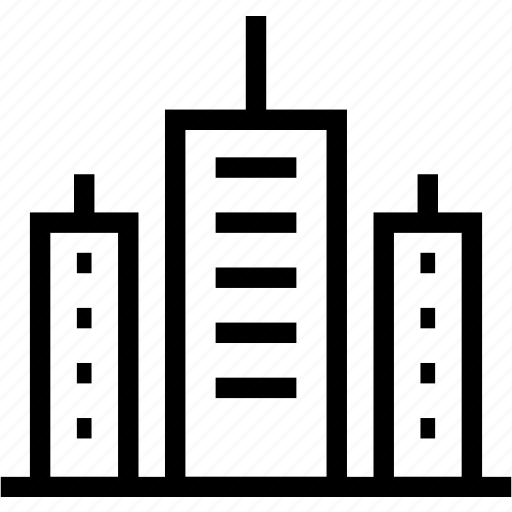 architecture, city, construction, estate icon