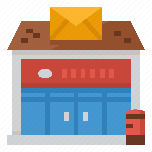 architecture, mail, office, post, postal icon
