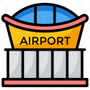 airport, airport entrance, airport terminal, city hall, station icon