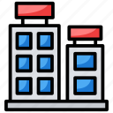 apartments, building, flats, office block, residential flats icon