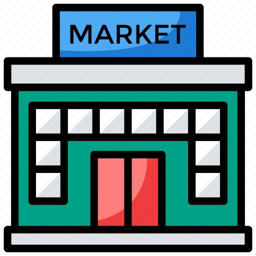 commercial building, market, marketplace, store, storefront icon
