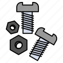 bolt, nut, screw, tools