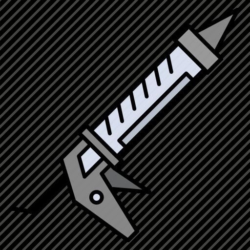 construction, gun, repair, sealant, utensils icon