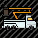 crane, lift, lifting, transport, truck