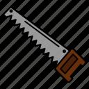 bade, construction, hand, saw, tools