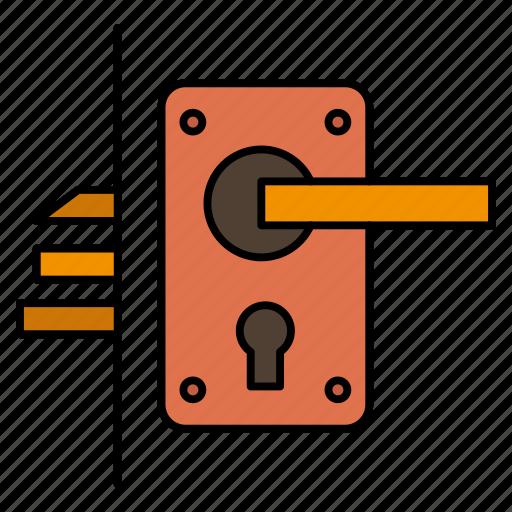 Door, handle, home, keyhole, lock icon - Download on Iconfinder