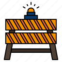 barrier, closed, construction, road, stop