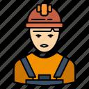 avatar, engineer, industry, supervisor, worker icon