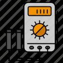 amper, digital, tester, voltmeter, watt