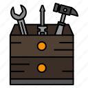 box, carpenter, tool, tools icon