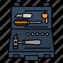 box, building, construction, repair, tools
