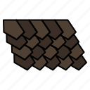 construction, roof, tile, top icon