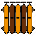 battery, heat, heating, radiator, warm icon