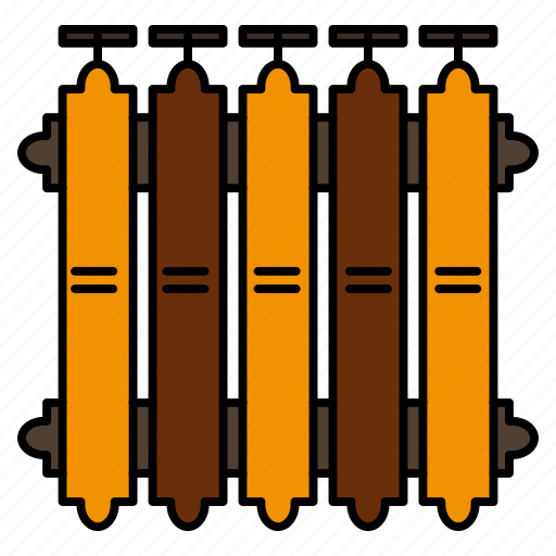 Battery, heat, heating, radiator, warm icon - Download on Iconfinder