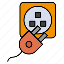charge, cord, electric, plug icon