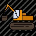construction, crane, lift, truck