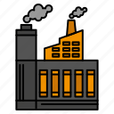 building, construction, factory, industry, smoke