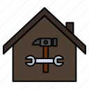 building, construction, hammer, home, repair, wrench