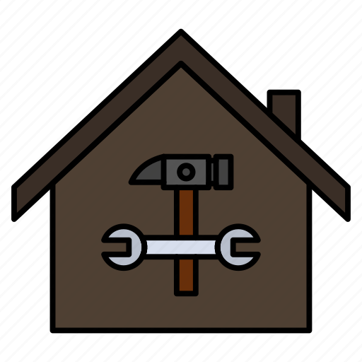 building, construction, hammer, home, repair, wrench icon