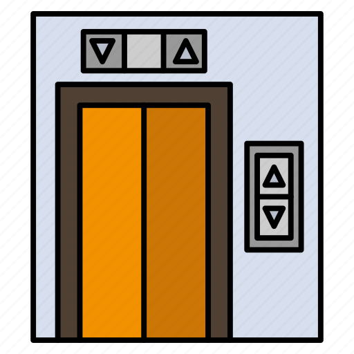 building, construction, lift icon