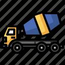 concrete, concretemixer, construction, mixer, truck