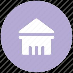 building columns, bureau, pantheon, rome icon