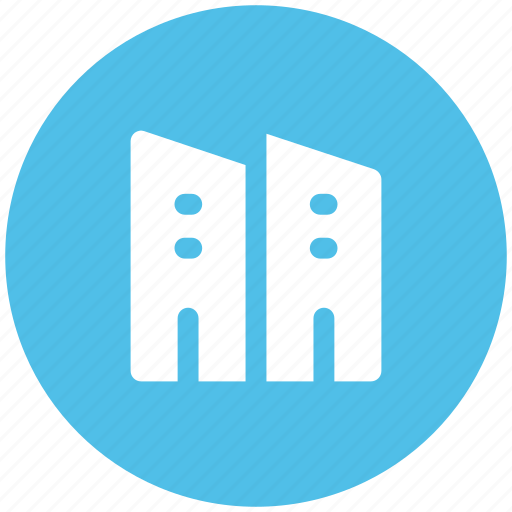 bank building, building, business center, financial center, round shape icon